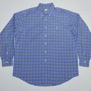 Brooks Brothers 346 Men's large blue yellow